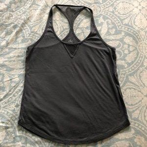 Alo Yoga grey tank top